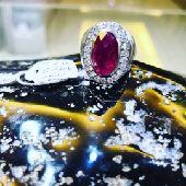 خاتم فضة ياقوت جميل