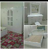 غرفه نوم جديدة وطني 6 قطع مع التركيب 1300