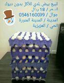 للبيع بيض بلدي للأكل طازج
