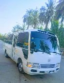 Toyota coaster bus model 2015 available rent
