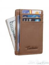 محفظة ماركة Travelambo جلد فاخر مضاده للسرقة