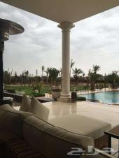 قصر فخم للإيجار 7 أجنحة بمدينة مراكش المغربية