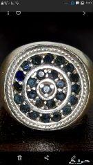 خاتم زفير سيلانى  قديم  . السوم لأعلى سعر