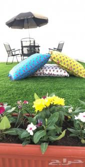 زرع صناعي للبيع - مظلة حديقة كراسي و طاولة