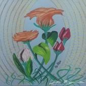 لوحة أزهار