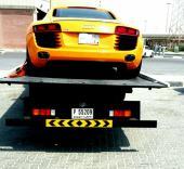 سطحات هيدروليك للنقل وسحب السيارات من الإمارات إلى السعودية وبالعكس