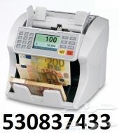 ماكنية عد النقود الكوريه لجميع فئات النقود - عدادة الاوراق النقديه المخلطة - مع الضمان سنة