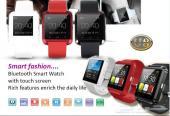 ساعة سمارت بلوتوث للأجهزة الذكية الايفون والسامسونج ( ضمان سنة )