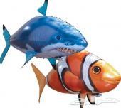 لعبة السمكة الطائرة بلونين