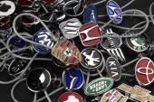 ميداليات ثلاثية الابعاد 3D Stainless Alloy لجميع انواع السيارات ( للطلب )