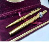 القلم الاسطوره باركر 75 طقم جديد مطلي بالذهب