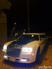 ليموزينات للأفراح والمناسبات VIP royal limoمرسيدس بانورما ابيض كرايسلر واكس كورجن استقبال توصيل مطار