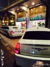 سيارات ليموزين للايجار مرسيدسVIP cars royal Limo s550 class ابيض وحفلات الأعراس والمناسبات وتوصيل وا