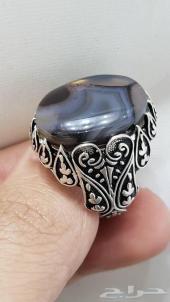 (مزاد) على خاتم عقيق يمني مصور