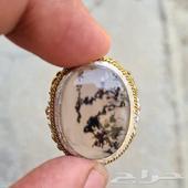 خاتم عقيق مشجر يماني 27
