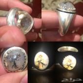 خاتم اوبال إثيوبي و خاتم عقيق شجري