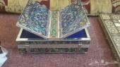 صندوق حافظة وحامل أو مسند قرآن كريم صناعة بحرينية