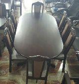 طاولات طعام خشب ماليزي جديدبالكرتون