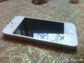 ايفون 4S للبيع او البدل لون ابيض 32g شبه جديد