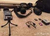كاميرا نيكون D3100 Nikon للبيع مع كامل عدتها