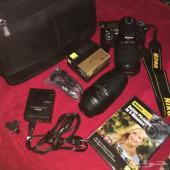 كاميرا نايكون Nikon D7100 مع عدستين شبة جديدة (تم وضع حد للسلعة)