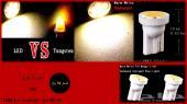 شمعات للسيارات ليد LED رقم T10 أبيض حراري