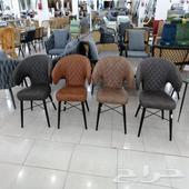 كرسي كوفي قماش جلد حديد فيبر