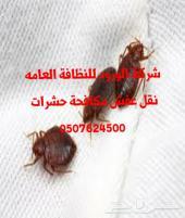 شركة مكافحة حشرات بالرياض الخرج المزاحمية  0507624500  تنظيف بيوت  مجالس موكيت فرشات نقل عفش