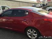 للتنازل سيارة كيا اوبتما 2013 لون احمر نص فل سقف بانورما