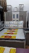 غرف نوم نفرين جديد من المصنع الي الزبون