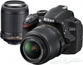 كاميرا  نيكون 3200 مع عدسة زوم