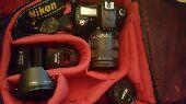 كاميرا Nikon D90 مع عدستين وفلاش احترافي