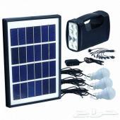 نظام طاقة شمسية متنقل 5واط يحتوي كشاف و 3 لمب