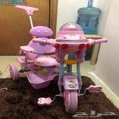 عربة وعجلة اطفال للبيع بحاله ممتازه