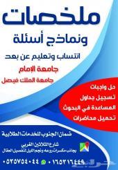 المساعدة في مشروع التخرج لجامعة الإمام انتساب
