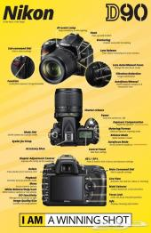 كاميرا نيكون D90 تصوير فوتوغرافي وفيديو