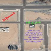 ارض للبيع بمخطط ولي العهد 8 مساحة 285م ب320 شامل