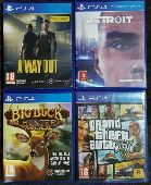 للبيع مجموعة اشرطة PS4