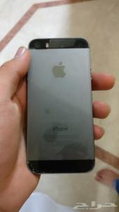 ايفون 5 اس اسود مستعمل نظيف للبيع