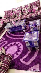 طاولات للبيع زجاج لون موف ب150
