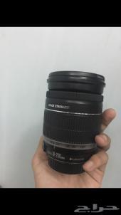 عدسة كاميرا كانون 18-200 شبه جديدة