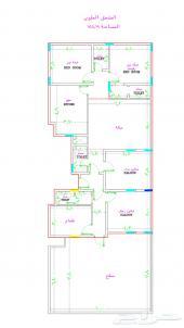 شقه 4 غرف مدخلين مساحتها 135م ب 245 الف