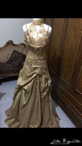 فستان ذهبي اخو الجديد للبيع