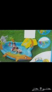 حوض العاب مع زحليقة مائية للاطفال