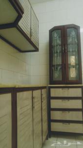 3 غرف وصالة نظيفة مجددة مطبخ راكب نظيف