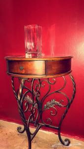 طاولة مدخل خشب زان