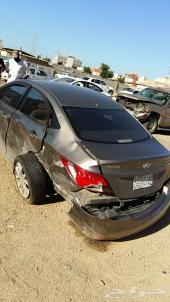 سيارة اكسنت هيونداي 2013 مصدمة من الخلف للبيع