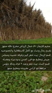 مخيم شمال الرياض للايجار قسمين رجال ونساء