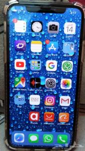 ايفون 256GB X  سلفر نظيف جدا مع اغراضه