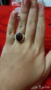 تم البيع مزاد على خاتم كبدي مميز  جميل ساعتين